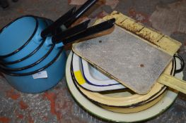 Set of Vintage Enamel Pans and Dishes