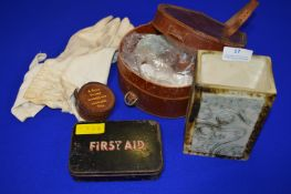 Vintage Leather Stud Box a, Collar Box, First Aid