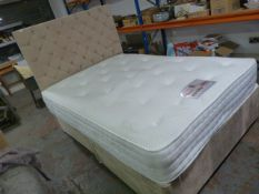 "Double Divan Bed 4'6"" x 6' with Mattress"