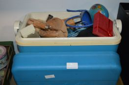 Coolbox Containing Various Kitchen Items, Shoe Str
