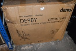 *DAMS Derby Black Leather Managers Chair