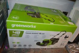 *Greenworks Cordless Lawnmower