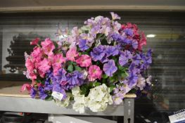 *Artificial Flower Hanging Basket