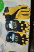 *Hydrahyde Leather Work Gloves 3pk Size: L