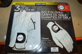 *Kirkland Golf Gloves 3pk Size: S