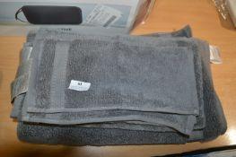 *Charisma 4pc Luxury Grey Towel Set