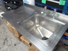 * S/S single sink with left hand drainer 1240w x 700d x 900h