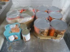 * 6x 2.26 Catering Tins of Baked Beans, 4x 2.26 Catering Tins of Tomatoes, 6x 420g Tins of No