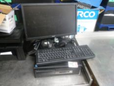 * HP desktop PC core I3 with monitor and keyboard