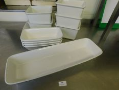 * Assorted Presentation Crockery approx 10 large square and rectangle display dishes