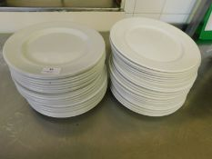* Assorted Crockery round plates approx 20 items