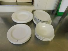 * Assorted Crockery plates/bowls approx 25 items