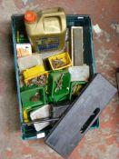 Tools, Motor Oil, Small Storage Bis, Warning Trian