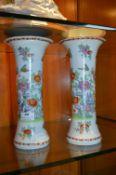 Pair of Oriental Style Vases