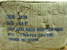 "Box of 6"" x 9"" Grip Seal Bags"
