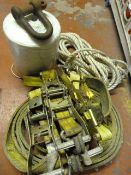 Four Ratchets, Nylon Rope, 3000kg Strap, and a Lar