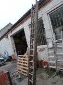 Extending Wooden Ladder