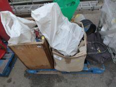Pallet of Assorted Plumbing Fittings, Door Furniture, etc.