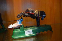 Cast Iron Money Box - Kicking Mule