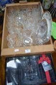 Cut Glass Crystal Wine Glasses, plus Maison Glass Set