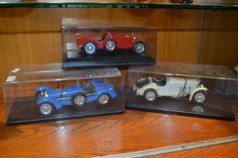Three Burago Diecast Model Cars
