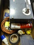 *60a 500v MEM Electrical Box, Plugs, Can of Dust R