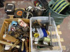 Pallet of Assorted Tools Including Planes, Garden