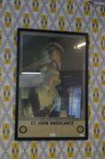 Framed St John Ambulance Poster