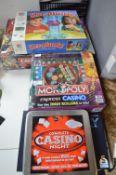 Box Games Including Monopoly Express Casio, Kerplunk, etc.