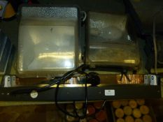 Two External Flood Lights and a Wall Mounted Inter