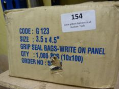 *Box of 1000 Grip Well Bags