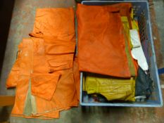 Box of Waterproof Trousers and Jackets