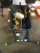 Wheelbarrow with a Quantity of Garden Tools, Twine