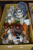 Bird Ornaments, Plates, Glassware, etc.