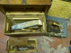 Two Boxes of Tools, Files, Saw Blades, etc.