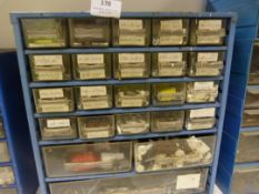 Set f Storage Drawers with Assorted Screws, Nuts,