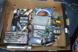 James Bond, Cars, Books, DVDs, etc.
