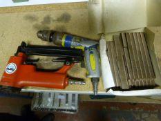 Clarke Pneumatic Stapler and a Pneumatic Drill