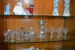 Glassware Including Decanter, Wine Glasses, etc.