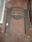 Antique Cast Iron Fireplace Grate