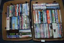 Two Boxes of DVDs ~100