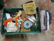 Tools Including Set Squares, Toolbelt, First Aid K