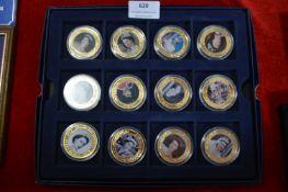Twelve Pictorial Royal Commemorative Coins