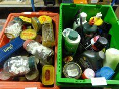 Box of Nails, Tacks, Fittings and a Box of Part Us