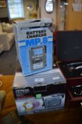 Hitachi DZHS301 DVD Video Camera and a Linwood MP8 Battery Charger