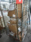 Cage of Assorted Plastic Guttering and Plumbing Fi