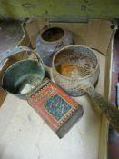 *Glue Pot, Brass Jam Pans, Saucepan and Tin