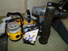 Cordless Drill, Torch and Four Krypton Focus Beam Lanterns