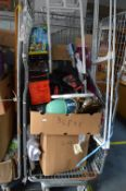 Cage of Household Goods; Fan Heater, New Clothing, Clothes Rail, etc.