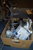 Stainless Steel Kitchenware, Wine Rack, Pans, Kettles, etc.